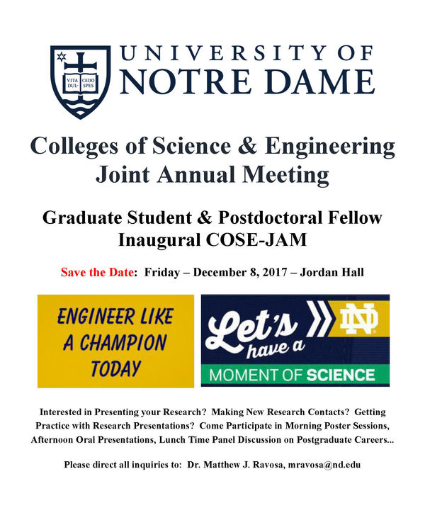 2017 Cose Jam Grad Students Postdocs Flier