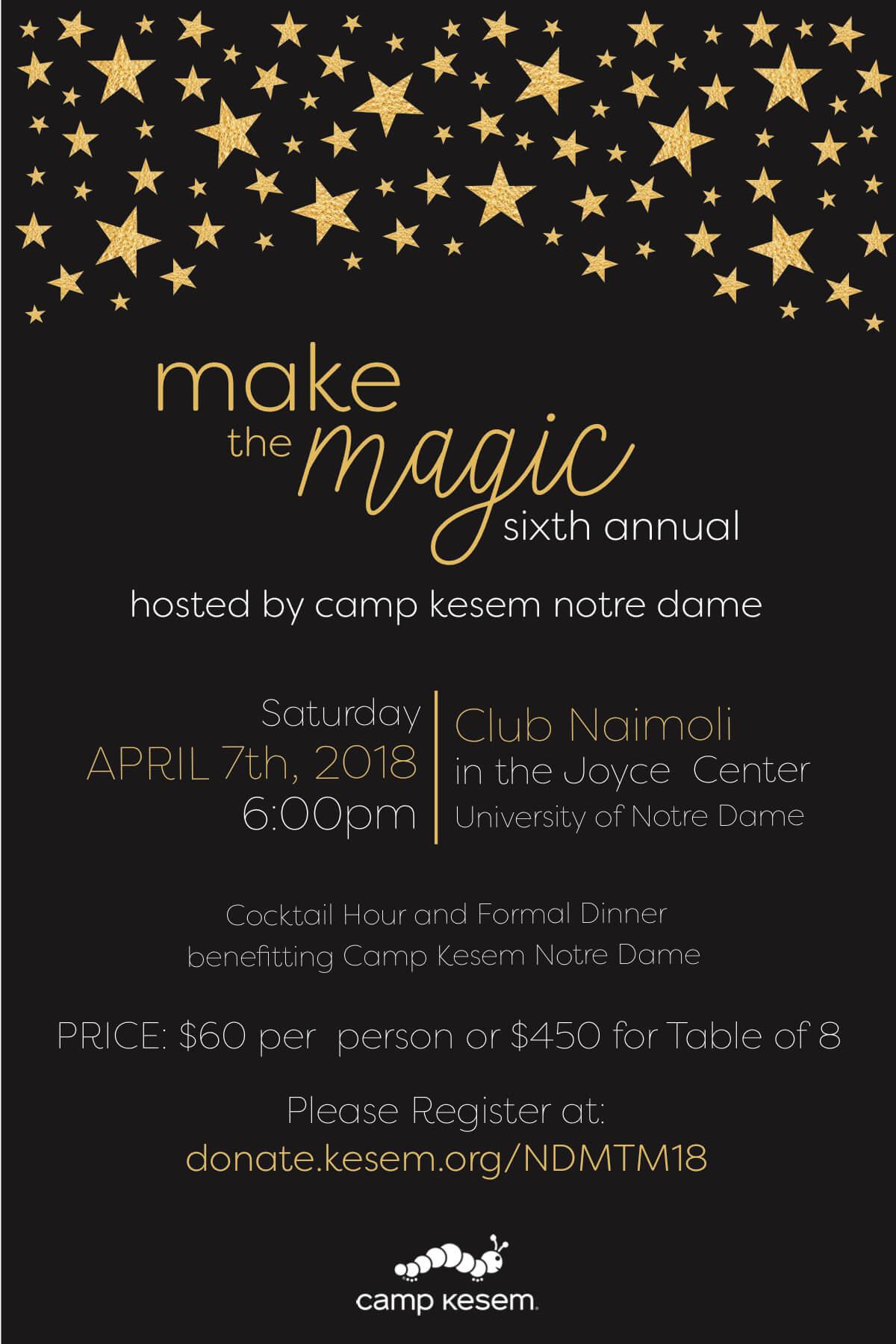 Sixth Annual Make the Magic Event